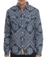 Men - Bandana - Print L/S Button-Down