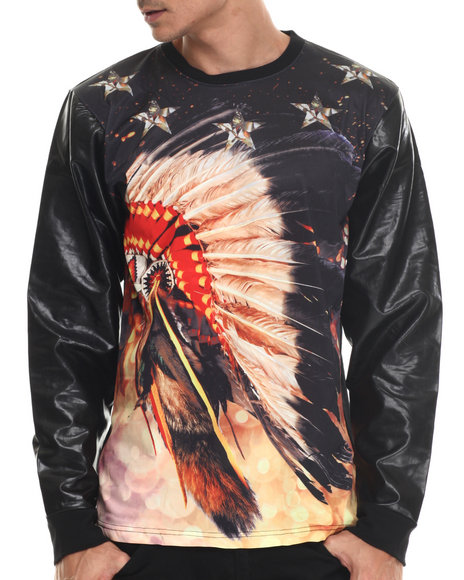 Ur-ID 188002 Buyers Picks - Men Black Chief Head Sweatshirt