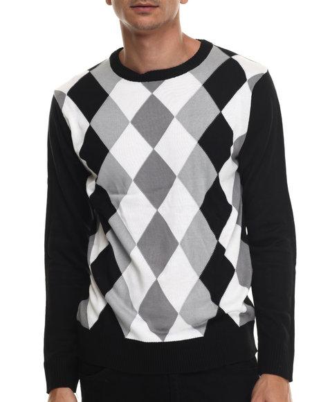 Buyers Picks - Men Black Austin Argyle Sweater