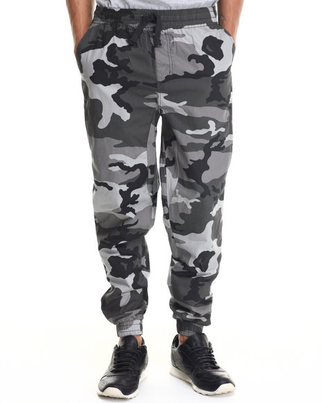 Buyers Picks - Men Camo,Grey Twill Fashion Camo Jogger Pants - $21.99