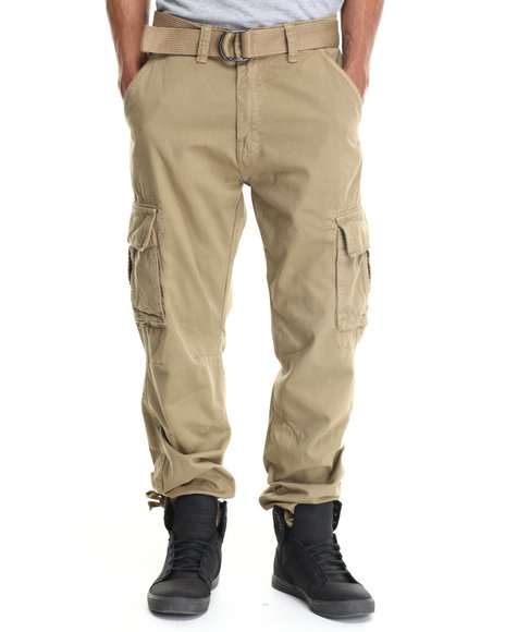 Miskeen - Men Khaki Heavy Twill Cargo Pants