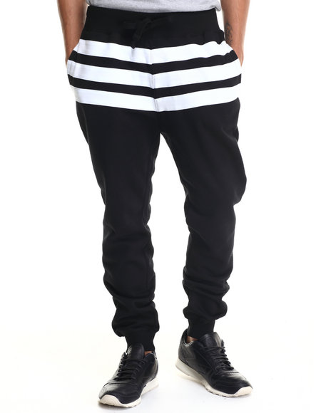 Buyers Picks - Men Black Bear The Beams Striped Joggers