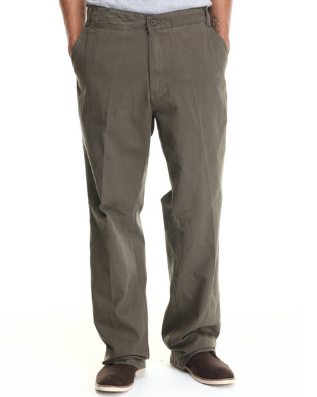 Ur-ID 187983 Buyers Picks - Men Olive B - B Twill Pants by Buyers Picks