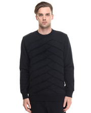 Men - Palladium Raw Edge Panel Crewneck Sweatshirt