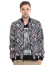Light Jackets - CALEID PRINT Bomber Jacket