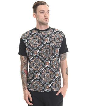 Shirts - KYLA MESH CALEID PRINT Tee