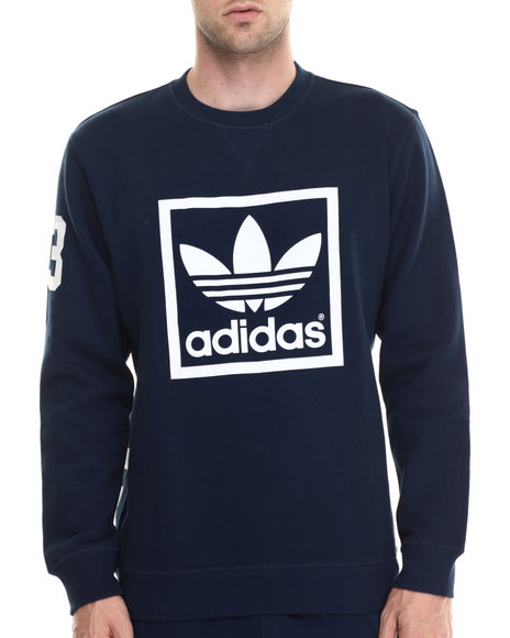 Adidas - Men Navy 3 Foil Crew Sweatshirt
