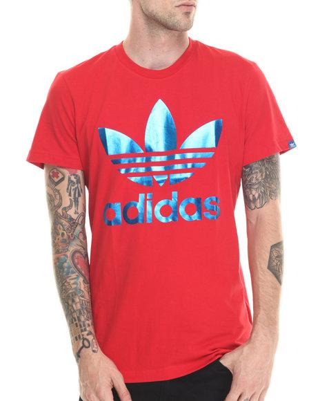 Adidas - Men Red Originals Foil Tee - $25.00