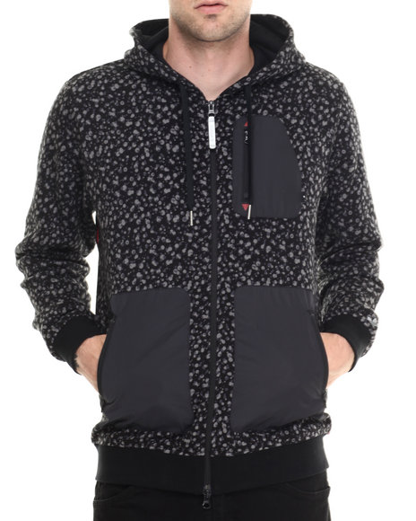 Ur-ID 188024 Adidas - Men Black Adventure Camo Spot Hoodie
