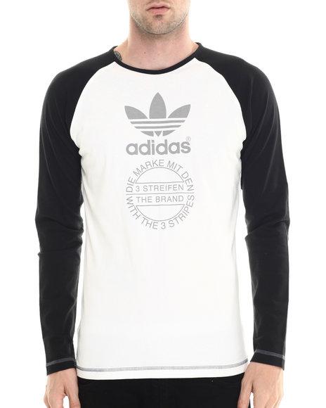 Adidas - Men Off White Premium Essentials Long Sleeve Graphic Tee
