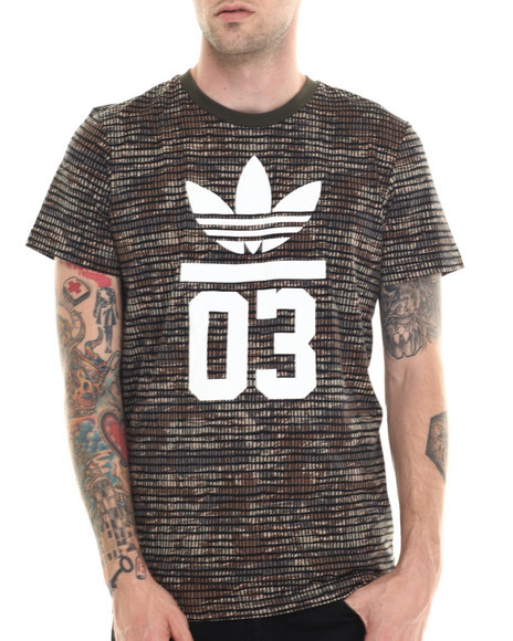 Adidas - Men Green,White 3Foil Adventure Tee