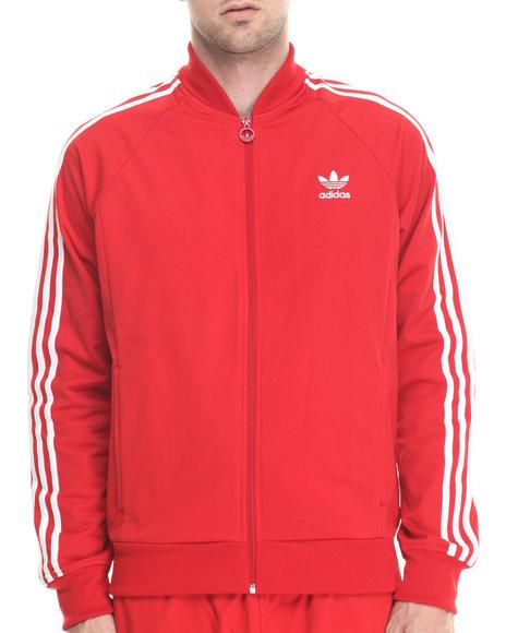 Adidas - Men Red Superstar Track Top Jacket