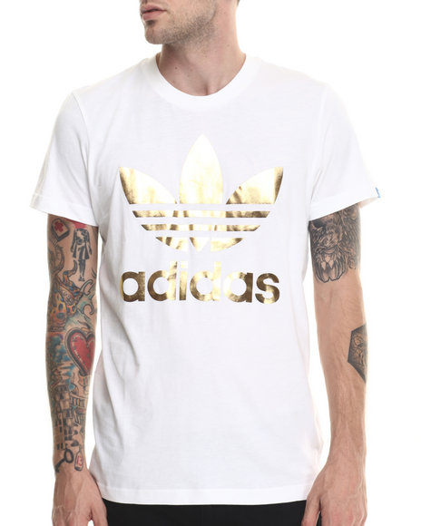 Adidas - Men White Originals Foil Tee