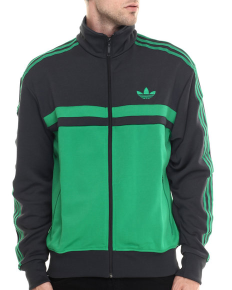 Adidas - Men Green,Grey Adi Icon Track Top Jacket
