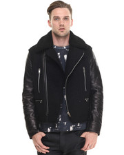 Jackets & Coats - Terry Rider Moto Jacket - Leather / Wool