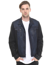True Religion - Danny Two Tone Moto Denim Jacket