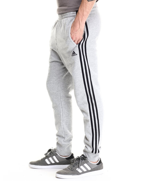 Ur-ID 188014 Adidas - Men Grey Slim 3S Pants by Adidas