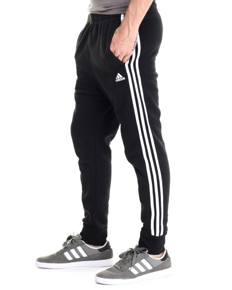 Adidas - Men Black Slim 3S Pants