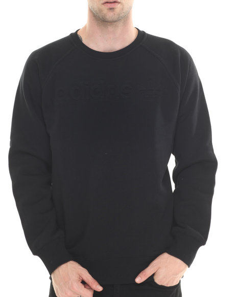 Ur-ID 188039 Adidas - Men Black Premium Fleece Crew Sweatshirt