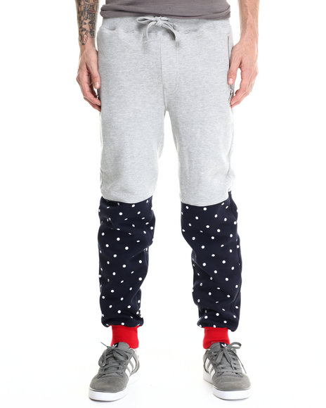 Ur-ID 188043 Buyers Picks - Men Grey Bear The Beams Polka Dot Joggers by Buyers Picks