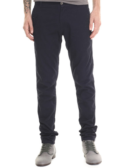 Ur-ID 188047 Basic Essentials - Men Navy Kenji Twill Pants