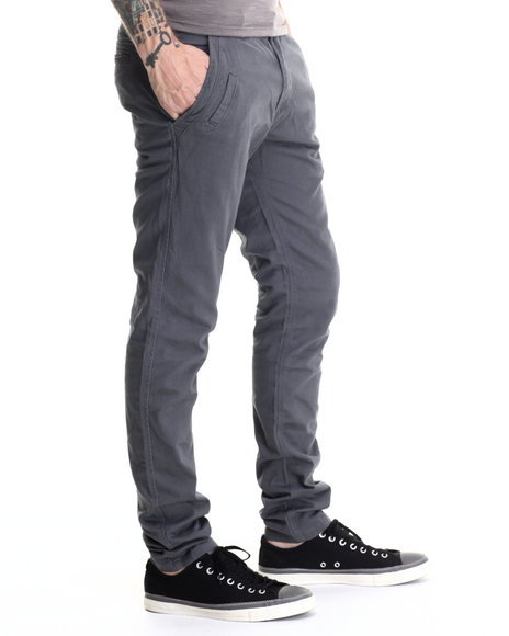 Basic Essentials - Men Grey Kenji Twill Pants