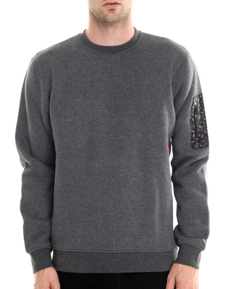 Adidas - Men Grey Adventure Sleeve Pocket Crew Sweatshirt