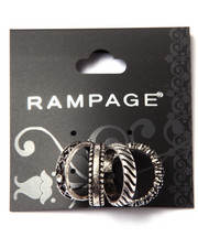 Rampage - Textured Midi Ring Set