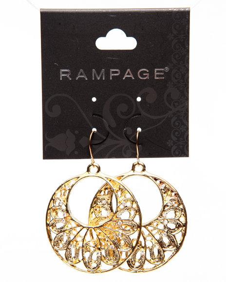 Rampage Women Filigree Circular Earrings Gold