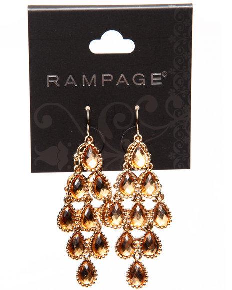 Rampage Women Jewel Tear Drop Earrings Gold - $3.99