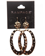 Rampage - Hammered Large Oval Earrings