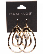 Rampage - Jewel Drop Oval Earrings