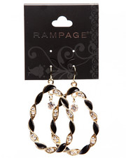 Jewelry - Twisted Oval Drop Earrings