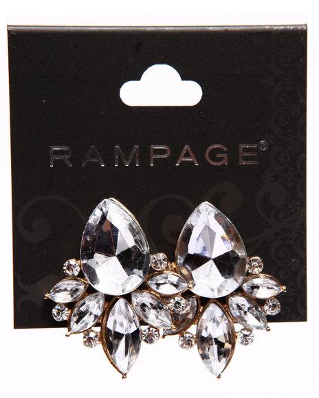 Rampage Women Starburst Jewel Earrings Gold