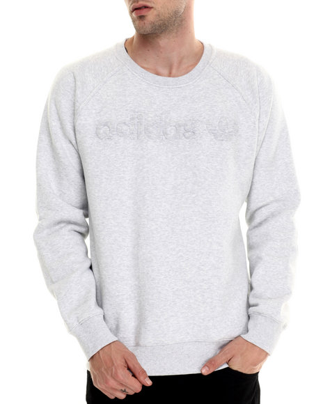 Adidas - Men Light Grey Premium Fleece Crew Sweatshirt