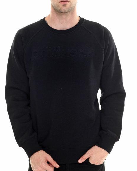Adidas - Men Black Premium Fleece Crew Sweatshirt