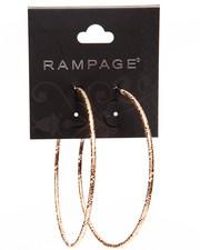 Rampage - Textured Large Hoop Earrings