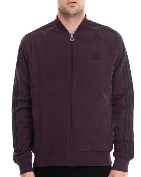 Adidas - Men Purple Superstar Track Top Jacket - $70.00