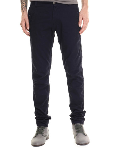 Basic Essentials - Men Navy Kenji Twill Pants