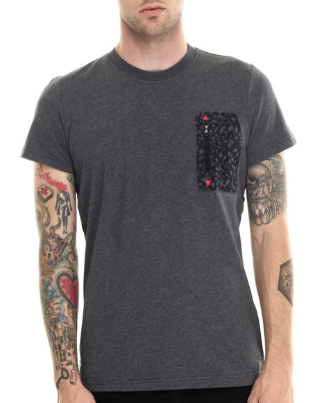 Adidas - Men Grey Adventure Zip Pocket Tee