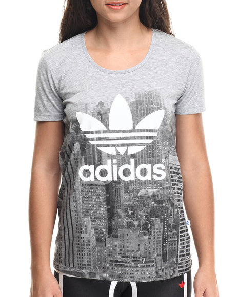 Adidas - Women Grey Skyline Tee - $25.00