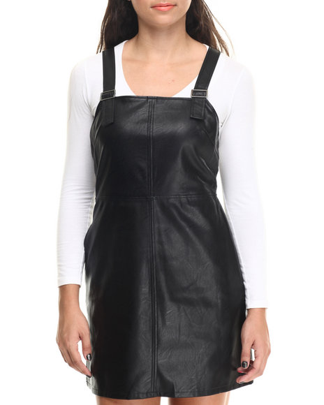 Evil Twin - Women Black Hold Me Back Pinnie Dress - $36.99