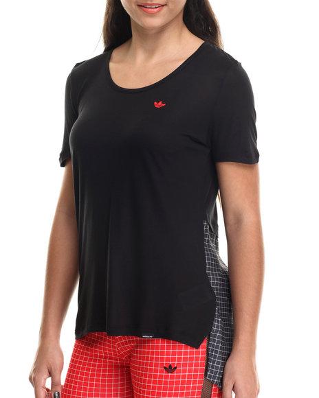 Adidas - Women Black Modern Tartan Hilight Tee - $26.99