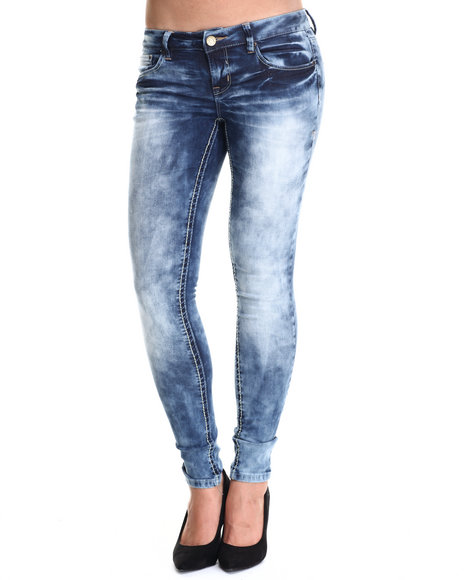 Basic Essentials - Women Dark Blue Dark Wind Skinny Jean