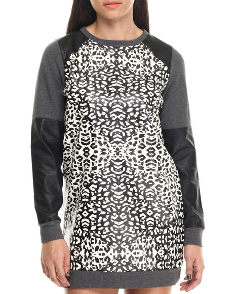 Minkpink - Women Animal Print Street Instint Jumper Dress