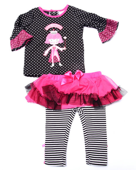 Duck Duck Goose - Girls Black 2 Pc Princess Tutu Set (Newborn)
