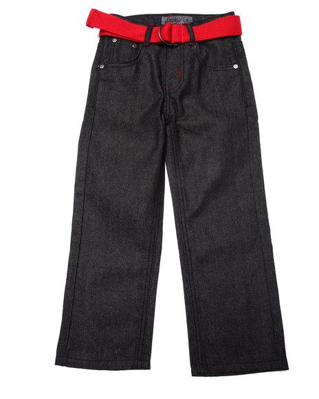 Arcade Styles - Boys Black Raw Premium Jeans (4-7)