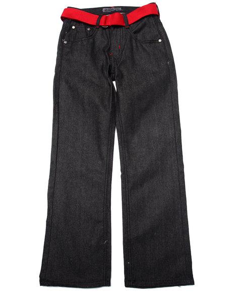 Arcade Styles - Boys Black Raw Premium Jeans (8-20)