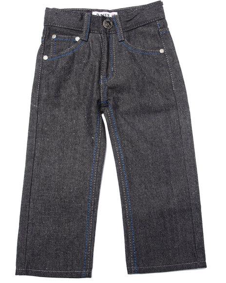Arcade Styles - Boys Black Raw Premium Jean (2T-4T)