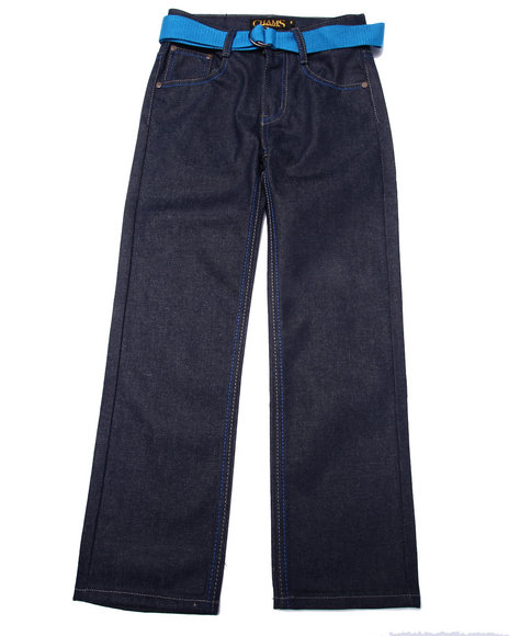 Arcade Styles - Boys Dark Wash Raw Premium Jeans (8-20)